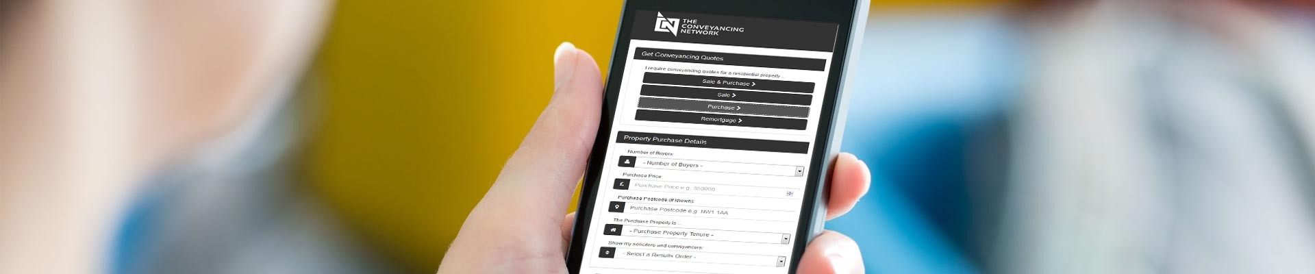 Mobile Quote Engine for Solicitors and Conveyancers